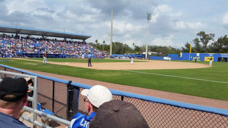 Seating view for Florida Auto Exchange Stadium Section 100A Row 2 Seat 18