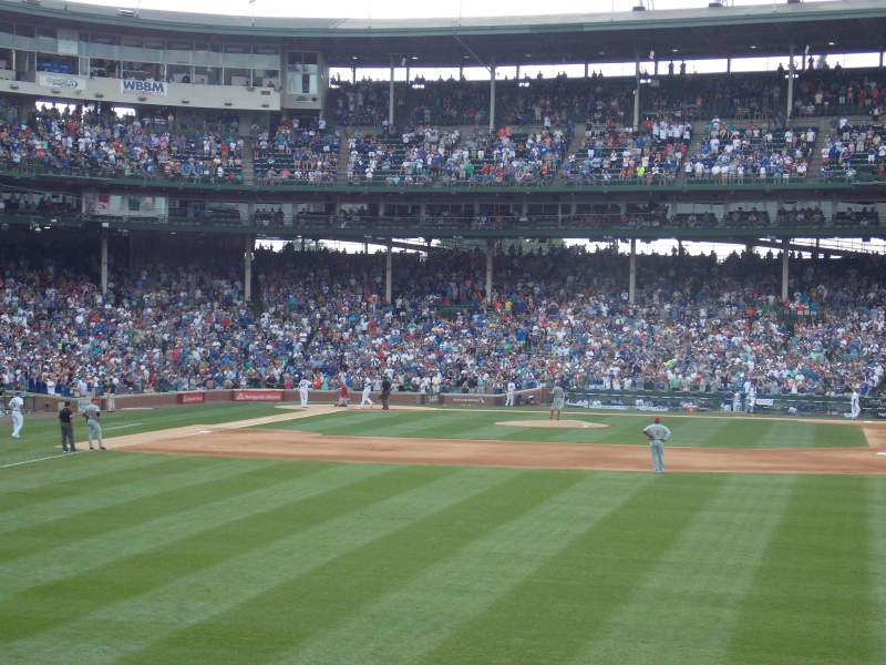 Seating view for Wrigley Field Section 315 Row 1 Seat 1