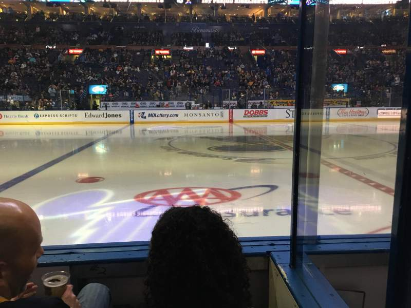 Seating view for Scottrade Center Section 116 Row B Seat 16