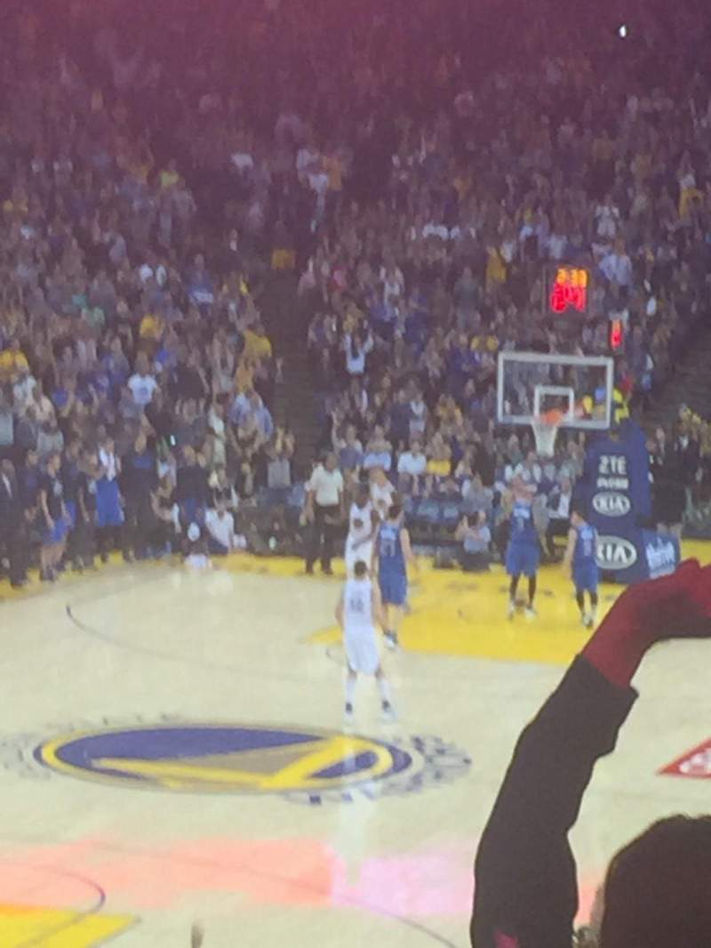 Seating view for Oracle Arena Section 120 Row 27 Seat 13