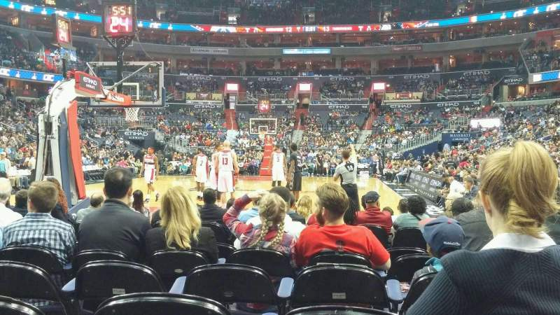 Seating view for Verizon Center Section Box West Row HHH Seat 26