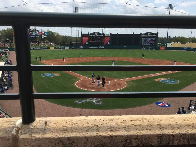 Seating view for Champion Stadium Section 213 Row A Seat 12