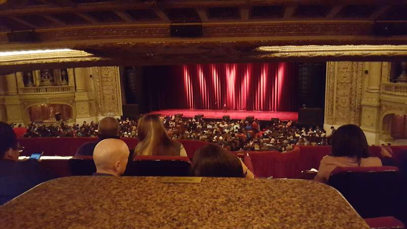Seating view for Chicago Theatre Section Booth Row J Seat 1 and 2