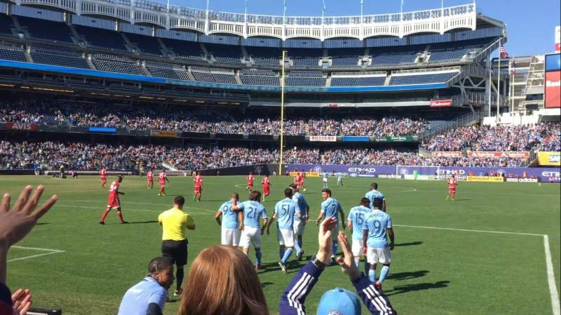 Seating view for Yankee Stadium Section 111 Row 4 Seat 2