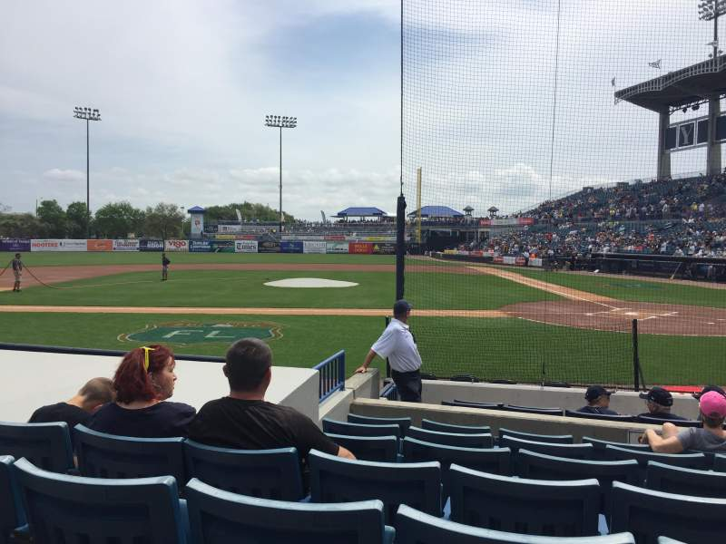 Seating view for George M. Steinbrenner Field Section 115 Row GG Seat 7
