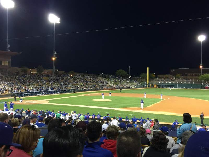 Seating view for Camelback Ranch Section 106 Row 15 Seat 7