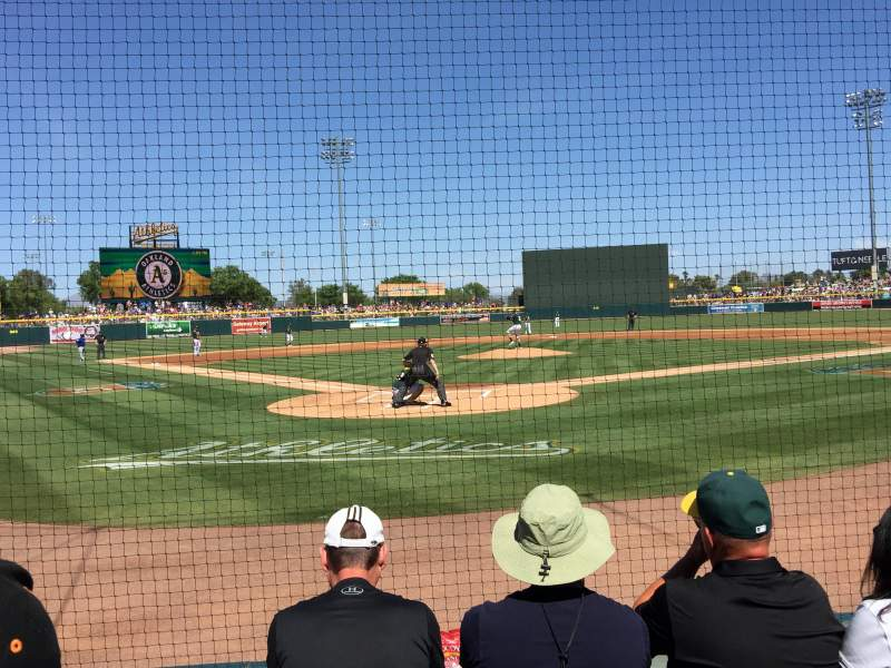 Seating view for HoHoKam Stadium Section 101 Row 4 Seat 9