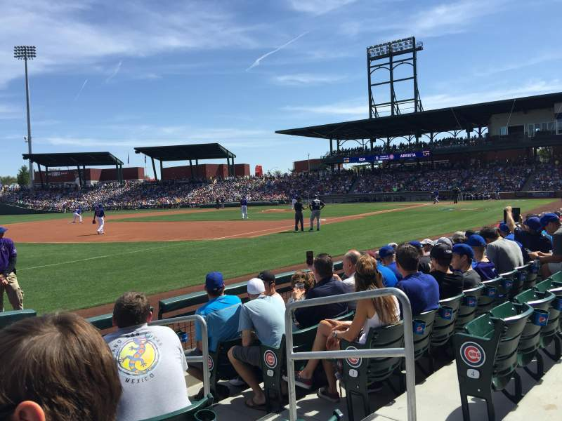 Seating view for Sloan Park Section 104 Row 6 Seat 13