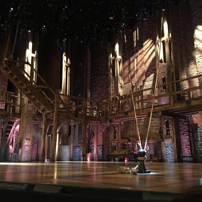 Seating view for Richard Rodgers Theatre Section Right orchestra Row A Seat 8