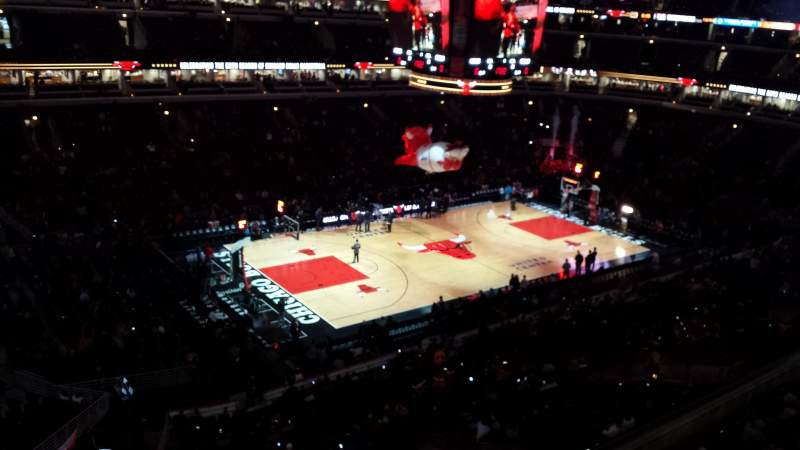 Seating view for United Center Section 321 Row 1 Seat 5