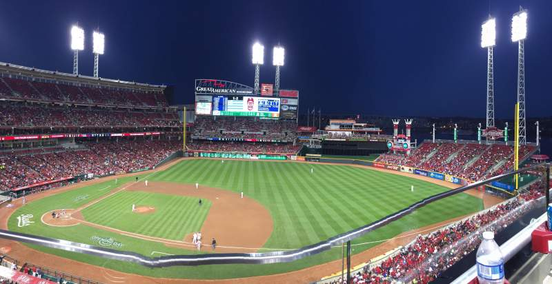 Seating view for Great American Ball Park Section 431 Row A Seat 14