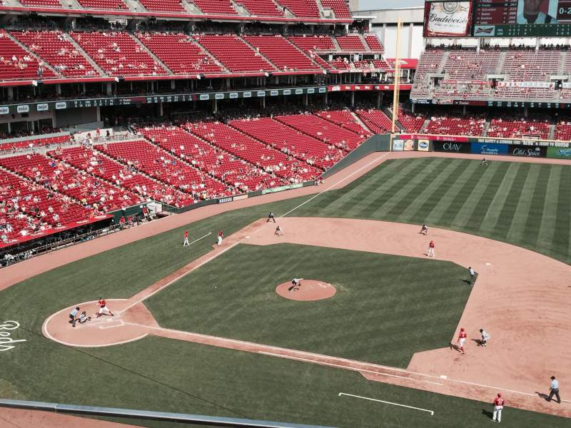 Seating view for Great American Ball Park Section 431 Row A Seat 13