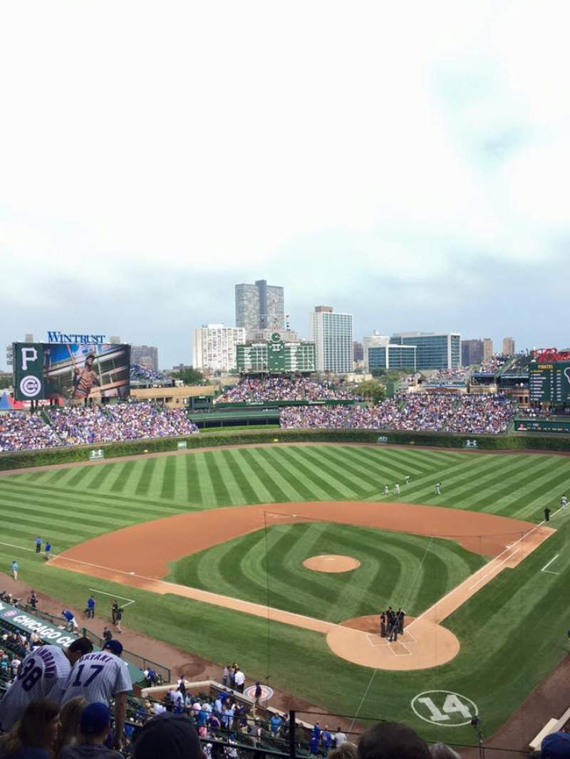 Seating view for Wrigley Field Section 419 Row 8 Seat 1
