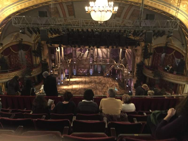 Seating view for Richard Rodgers Theatre Section Rear Mezzanine Row F Seat 109