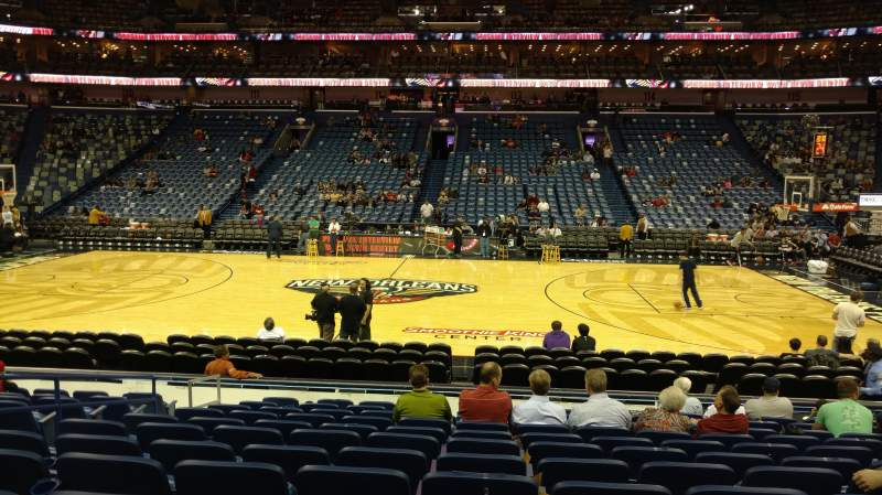 Seating view for Smoothie King Center Section 124 Row 15 Seat 13