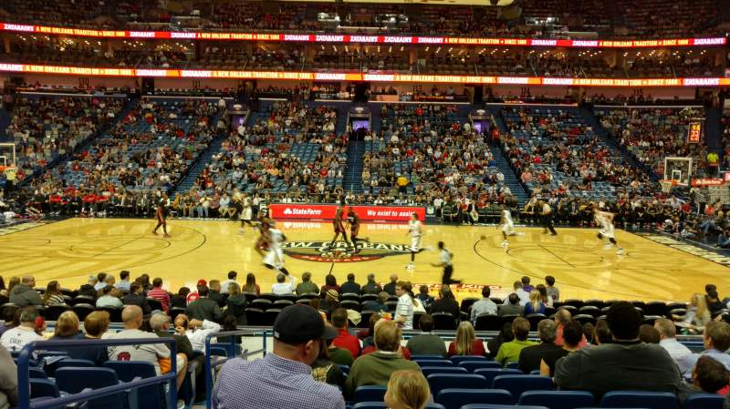 Seating view for Smoothie King Center Section 124 Row 15 Seat 17
