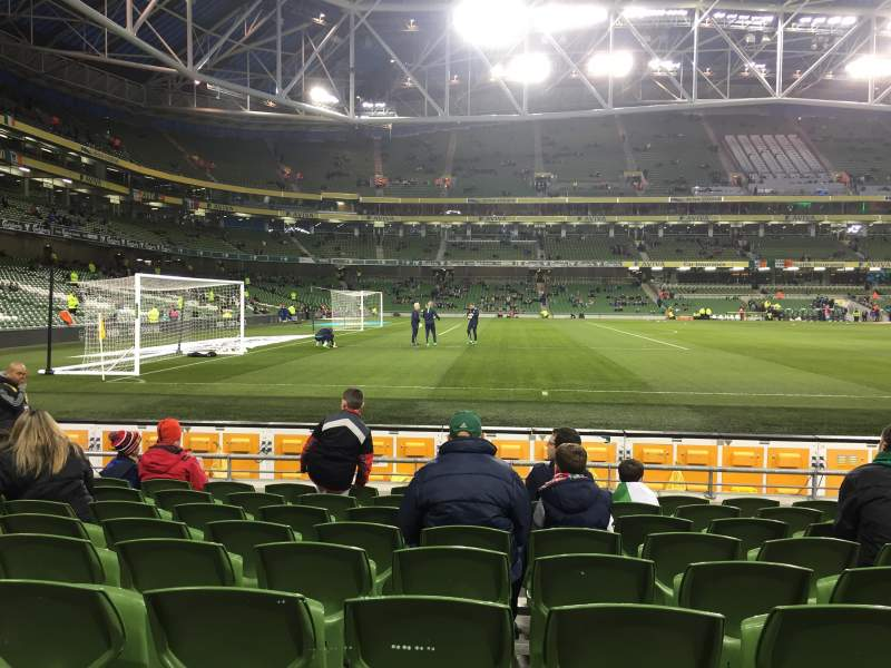 Seating view for Aviva Stadium Section 107 Row J Seat 24