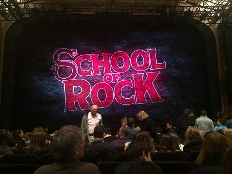 Seating view for Winter Garden Theatre Section Center main floor Row M Seat 111