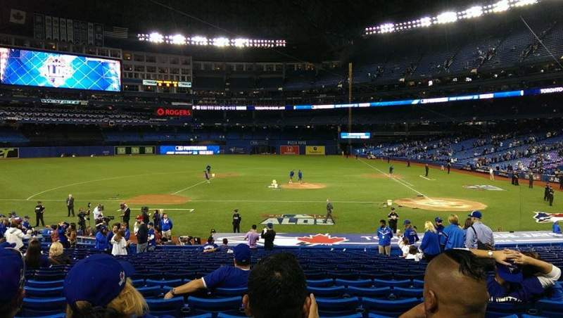 Seating view for Rogers Centre Section 125L Row 28 Seat 107