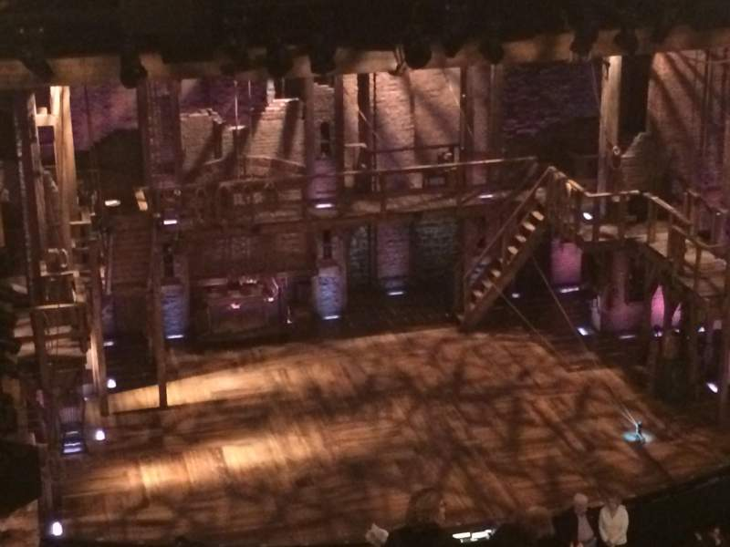 Seating view for Richard Rodgers Theatre Section Rear Mezz Left Row E Seat 5
