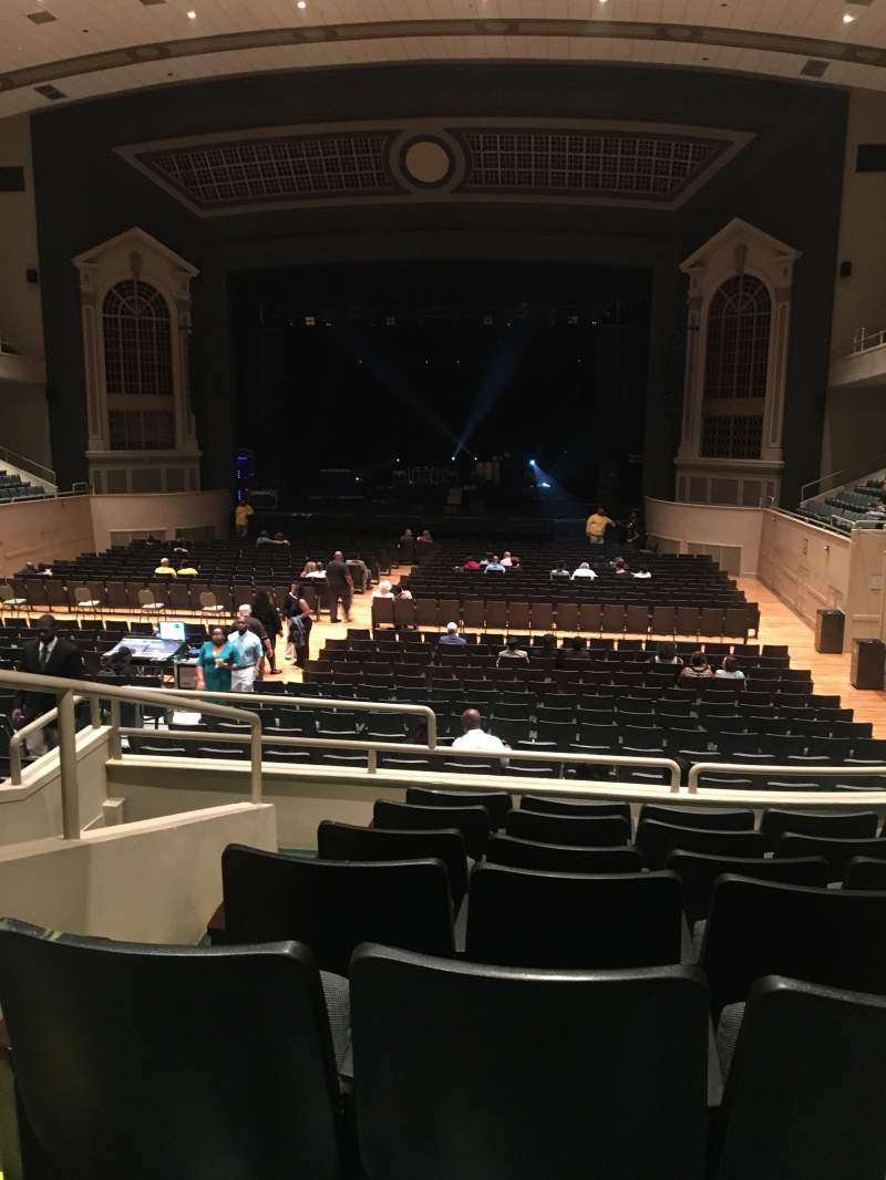 Seating view for Township Auditorium Section First Balcony Section G (FBAG) Row G Seat 2