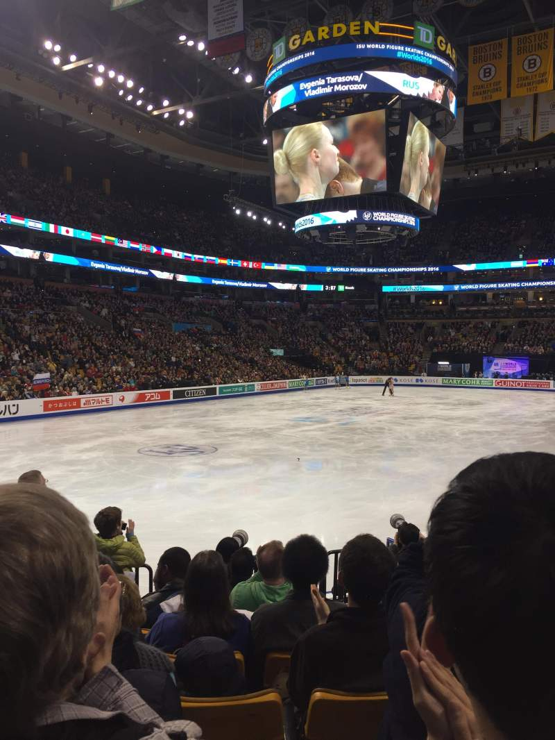 Seating view for TD Garden Section Loge 5 Row 10