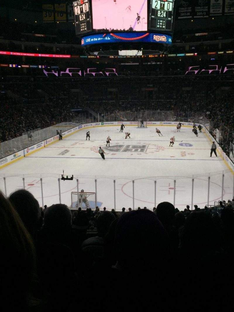 Seating view for Staples Center Section 207 Row 7 Seat 9