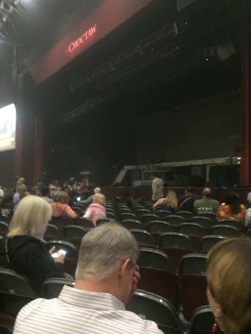 Seating view for Choctaw Grand Theater Section 101 Row L Seat 4