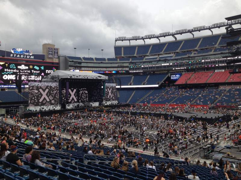 Gillette Stadium, section 107, row 29 - One Direction tour ...