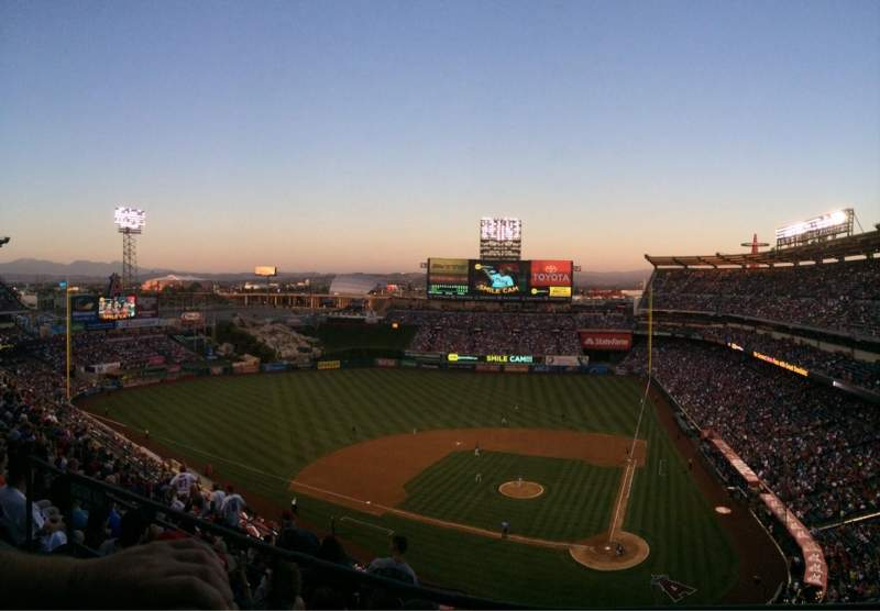 Seating view for Angel Stadium Section V517 Row A Seat 10