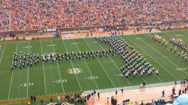 Seating view for Neyland Stadium Section FF Row 21 Seat 3