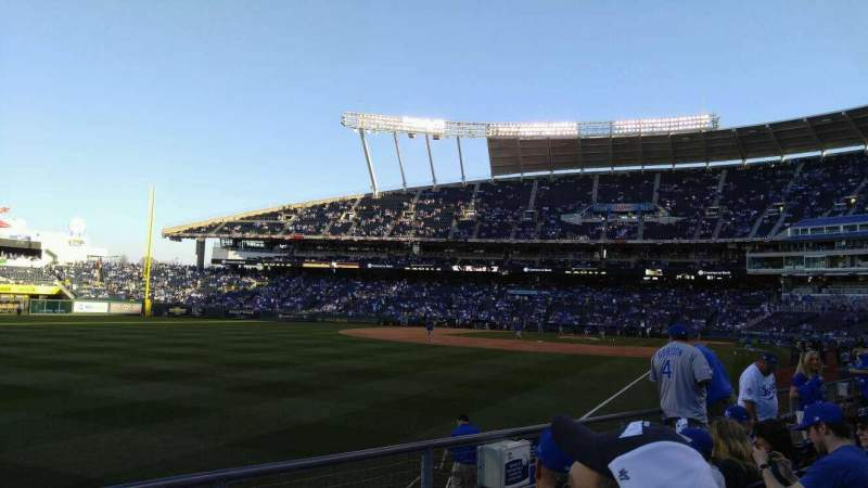 Seating view for Kauffman Stadium Section 109 Row j Seat 6
