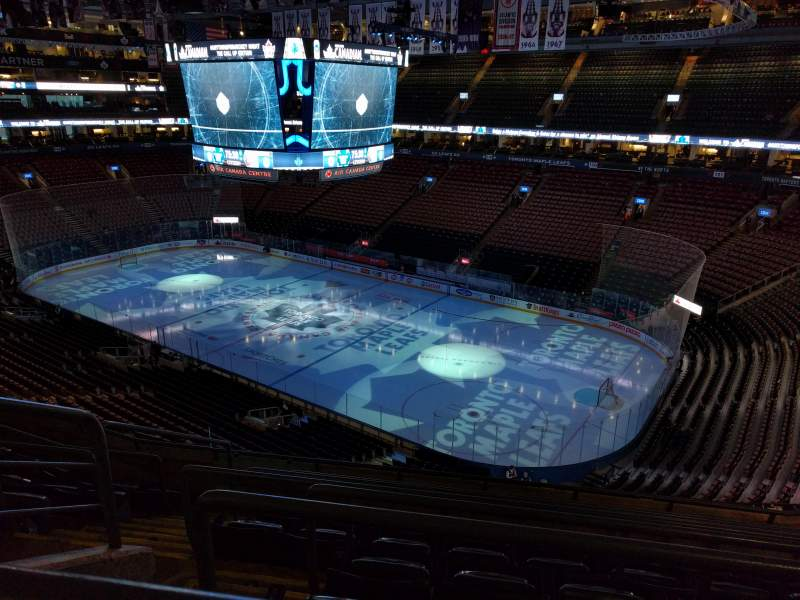 Seating view for Air Canada Centre Section 306 Row 7 Seat 18