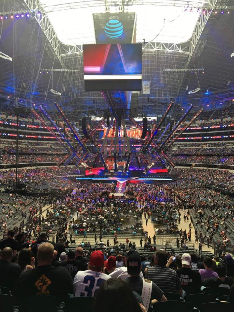 Wwe photos at at t stadium for Dining options at at t stadium