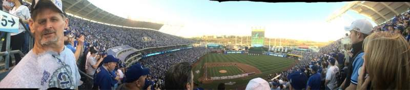 Seating view for Kauffman Stadium Section 426 Row L Seat 3