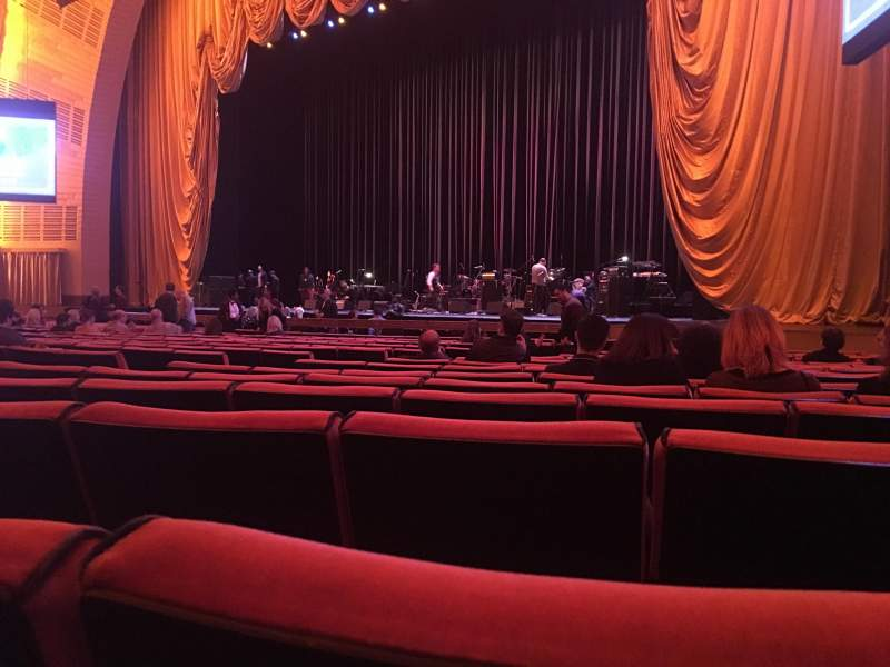 Seating view for Radio City Music Hall Section Orchestra 2 Row QQ Seat 206