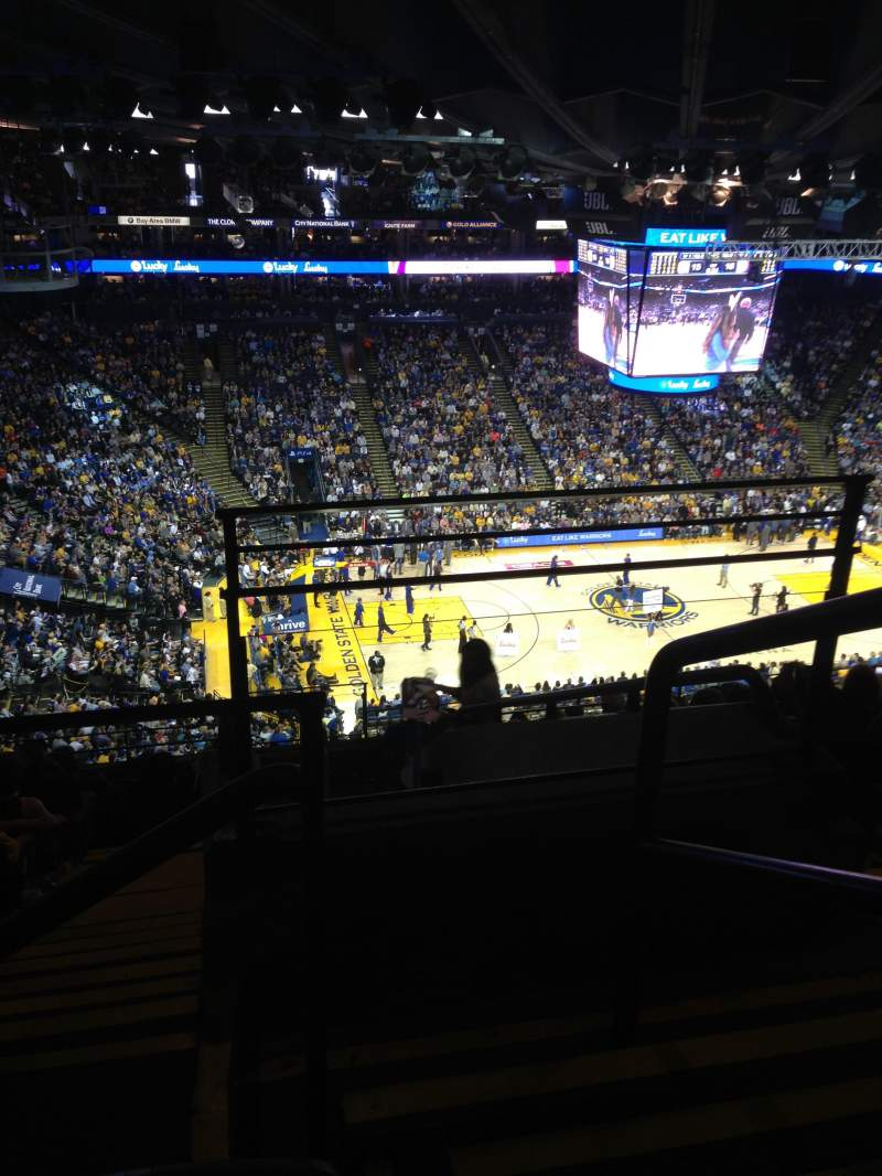 Seating view for Oracle Arena Section 219 Row 11 Seat 1-2