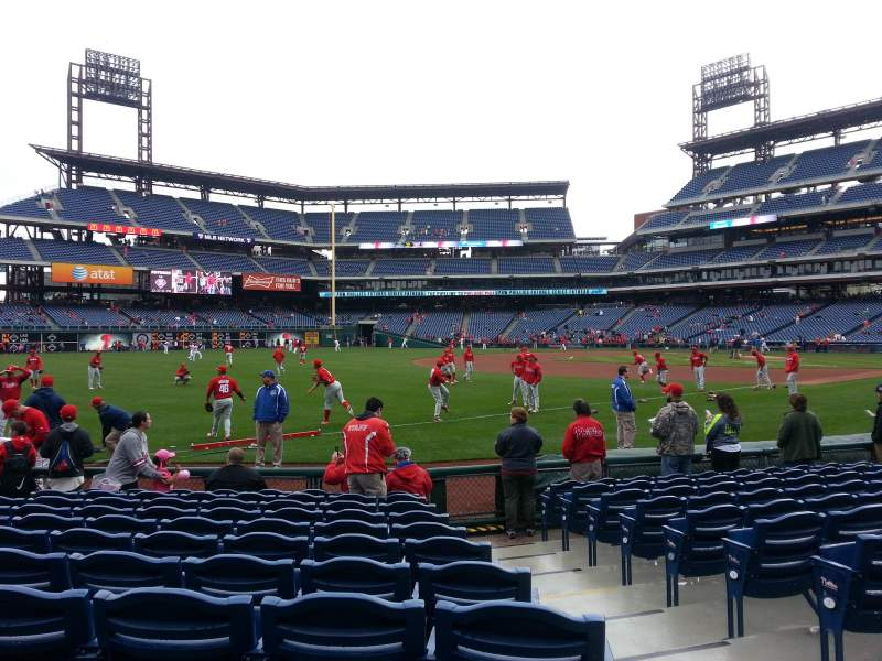 Seating view for Citizens Bank Park Section 137 Row 11 Seat 1