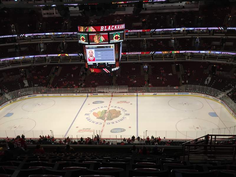 Seating view for United Center Section 334 Row 14 Seat 5
