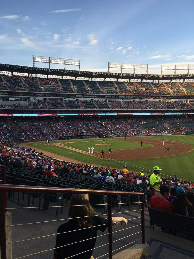Seating view for Globe Life Park in Arlington Section 39 Row 36 Seat 1