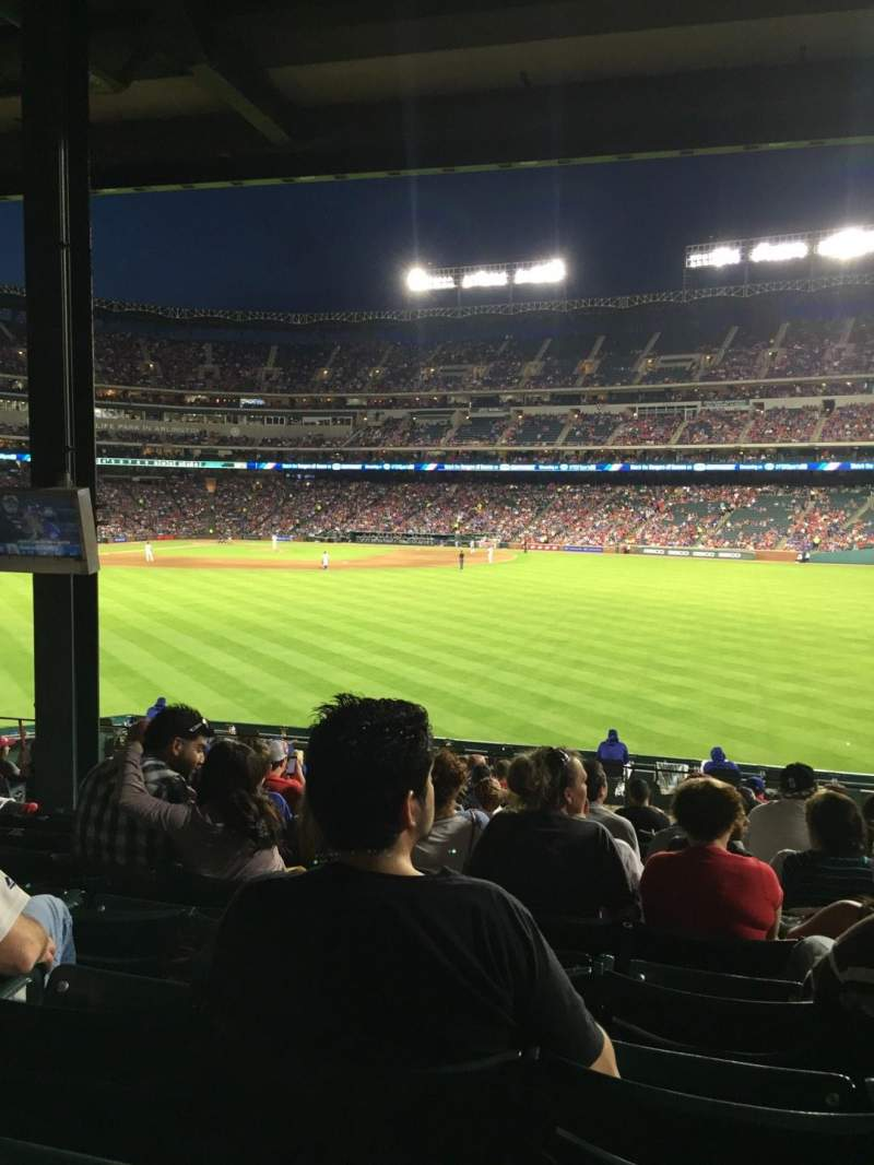 Seating view for Globe Life Park in Arlington Section 49 Row 18 Seat 10