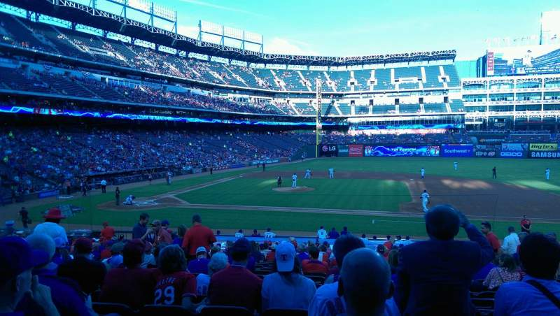 Seating view for Globe Life Park in Arlington Section 33 Row 24 Seat 9