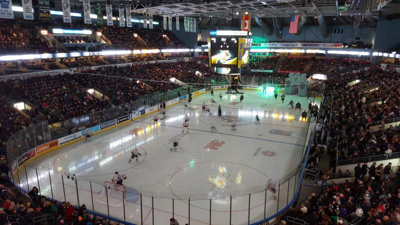 Seating view for Budweiser Gardens Section 308 Row D