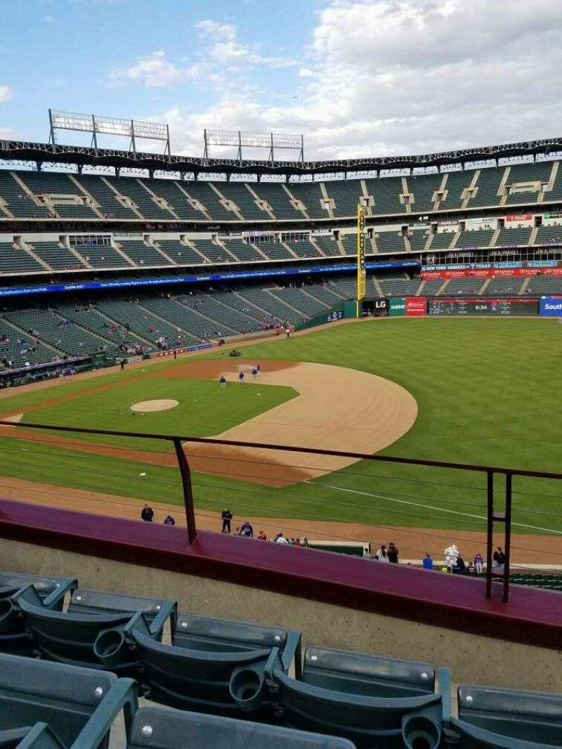 Seating view for Globe Life Park in Arlington Section 236 Row 3 Seat 16