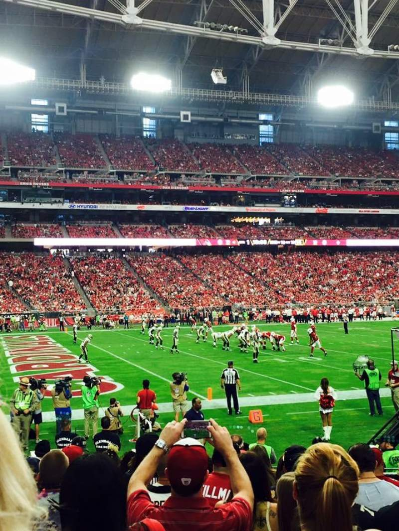 Seating view for University of Phoenix Stadium Section 135 Row 11 Seat 7-8