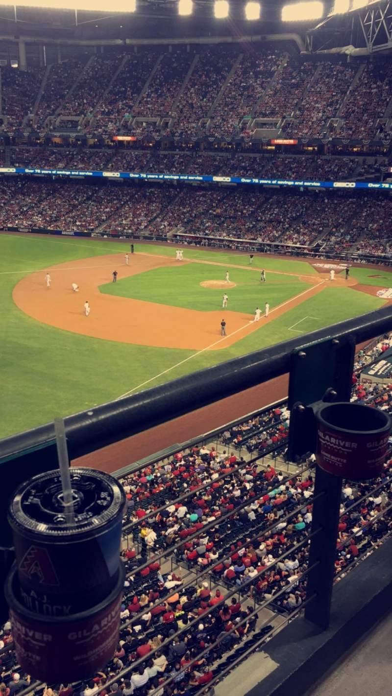 Seating view for Chase Field Section 329 Row 1