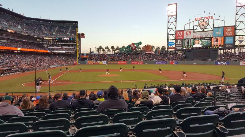 Seating view for AT&T Park Section 110 Row 23 Seat 1