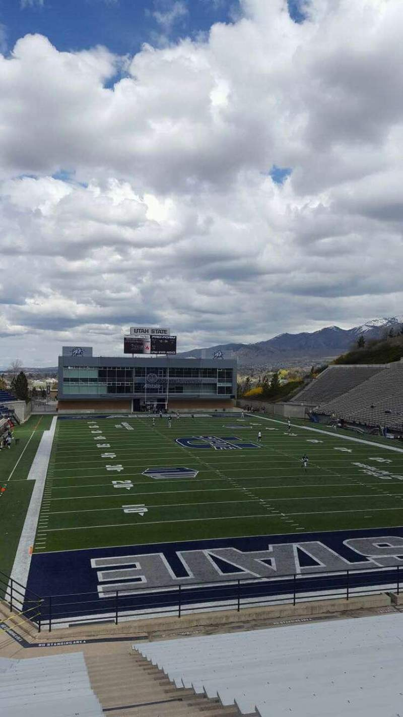 Seating view for Maverik Stadium Section G Row 18 Seat 20