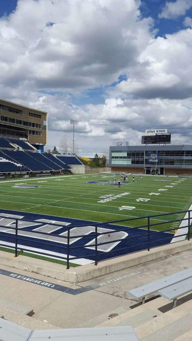 Seating view for Maverik Stadium Section d Row 5 Seat 5