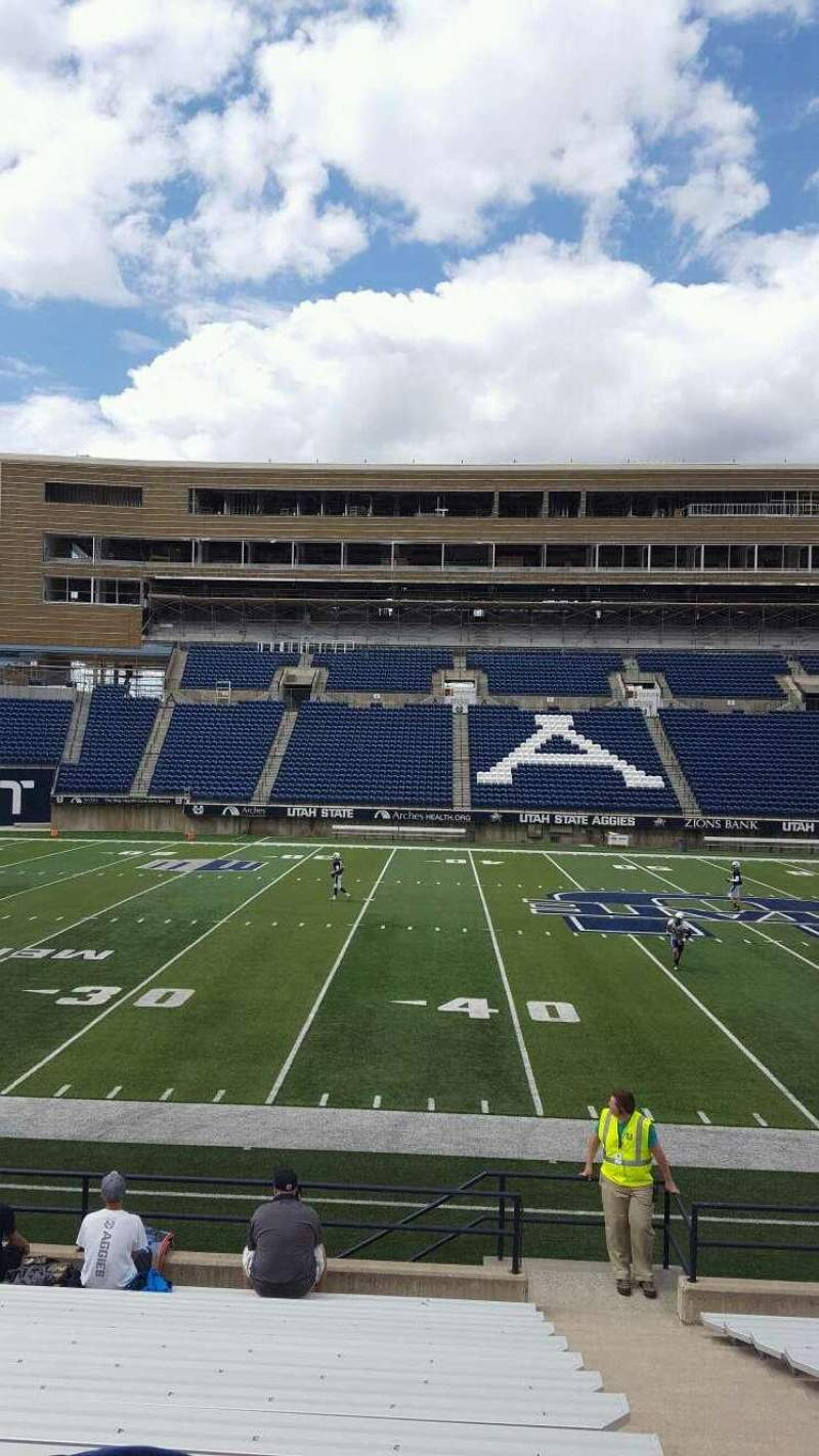 Seating view for Maverik Stadium Section 16 Row 14 Seat 2
